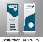 roll up stand design. vertical... | Shutterstock .eps vector #1309283299