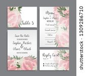 wedding invitation set.... | Shutterstock .eps vector #1309286710
