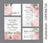 wedding invitation set.... | Shutterstock .eps vector #1309286710
