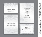 wedding invitation set.... | Shutterstock .eps vector #1309286740