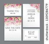 wedding invitation set.... | Shutterstock .eps vector #1309286779