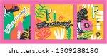 creative bright set of brazil... | Shutterstock .eps vector #1309288180