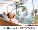 luxury hotel home living woman... | Shutterstock . vector #1309297486