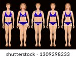 types of female figures | Shutterstock .eps vector #1309298233