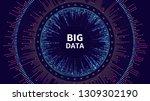 data complexity representation. ... | Shutterstock .eps vector #1309302190