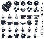 coffee icons set isolated on... | Shutterstock . vector #1309303156