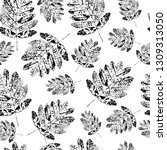 seamless pattern with stamp...   Shutterstock .eps vector #1309313050