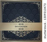 vintage template with pattern... | Shutterstock .eps vector #1309313473