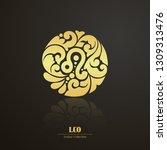 ornate decorative zodiac sign.... | Shutterstock .eps vector #1309313476