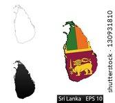 maps of sri lanka  3... | Shutterstock .eps vector #130931810