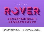 stylized 3d uppercase letters ... | Shutterstock .eps vector #1309326583