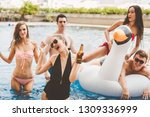 pool party summer concept ... | Shutterstock . vector #1309336999