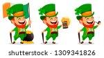 saint patrick day. funny... | Shutterstock .eps vector #1309341826