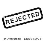 rejected grunge rubber square...   Shutterstock .eps vector #1309341976