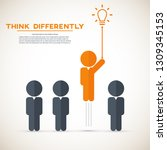 think differently   being... | Shutterstock .eps vector #1309345153