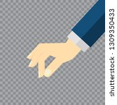 picking hand. gesture with a... | Shutterstock .eps vector #1309350433