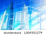 stock market concepts with... | Shutterstock . vector #1309351279