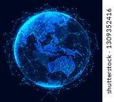 global network concept. world... | Shutterstock . vector #1309352416
