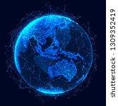 global network concept. world... | Shutterstock . vector #1309352419