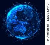 global network concept. world... | Shutterstock . vector #1309352440