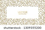 a lot of small golden balls in... | Shutterstock .eps vector #1309355200