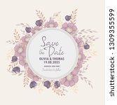 wedding invitation. beautiful... | Shutterstock .eps vector #1309355599