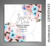 wedding invitation. beautiful... | Shutterstock .eps vector #1309355653