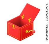 surprise clockwork box | Shutterstock .eps vector #1309356976