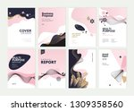 set of brochure  annual report... | Shutterstock .eps vector #1309358560