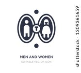 men and women toilet icon on... | Shutterstock .eps vector #1309361659
