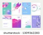 set of brochure  annual report... | Shutterstock .eps vector #1309362283