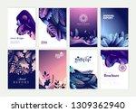 set of brochure  annual report... | Shutterstock .eps vector #1309362940