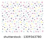 colorful party pattern vector | Shutterstock .eps vector #1309363780