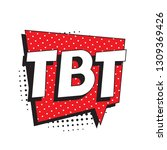 abbreviation tbt  throwback... | Shutterstock .eps vector #1309369426