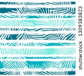 tropical pattern  palm leaves...   Shutterstock .eps vector #1309383823