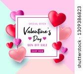 valentine's day sale background.... | Shutterstock .eps vector #1309386823
