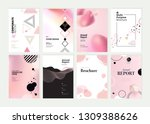 set of brochure  annual report... | Shutterstock .eps vector #1309388626