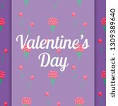 valentines day italic sign on... | Shutterstock . vector #1309389640