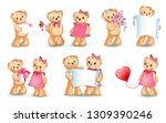 teddy bears collection on... | Shutterstock . vector #1309390246