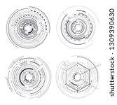 four black interface patterns...