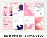 set of brochure  annual report... | Shutterstock .eps vector #1309391530
