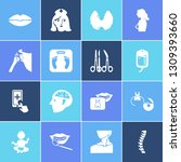 medicine icon set and breast... | Shutterstock .eps vector #1309393660