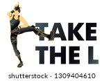 take the l. loser dance. t... | Shutterstock .eps vector #1309404610