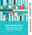health insurance flat design... | Shutterstock .eps vector #1309407739