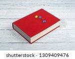 audiobook on white background.... | Shutterstock . vector #1309409476