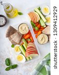 healthy and nutricious lunch or ... | Shutterstock . vector #1309412929