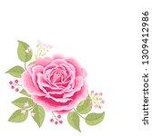 the rose elegant card.... | Shutterstock .eps vector #1309412986