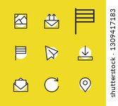 web icons set with pin  rotate...