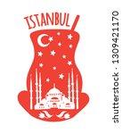 istanbul  turkey. travel...   Shutterstock .eps vector #1309421170