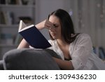 lady suffering eyestrain... | Shutterstock . vector #1309436230